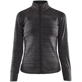 Craft Ideal Thermische Jersey Dames, black melange